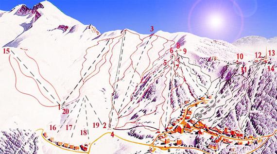 Uludag Kayak Ve Snowboard Pist Haritasi Ve Zorluk Dereceleri